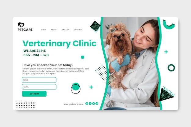 Página inicial da clínica veterinária