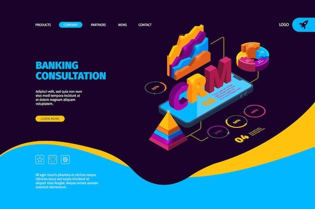 Página inicial da consulta bancária Vetor Premium