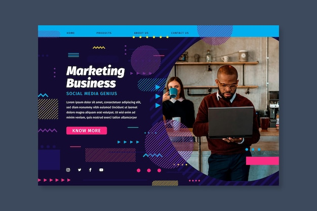 Página inicial da empresa de marketing