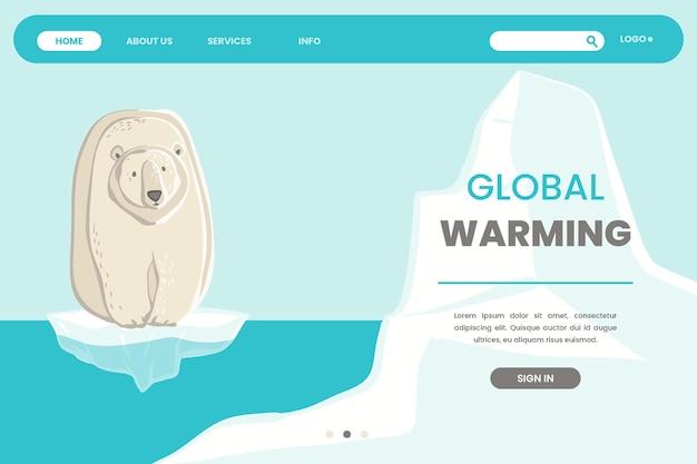 Página inicial da mudança climática desenhada à mão