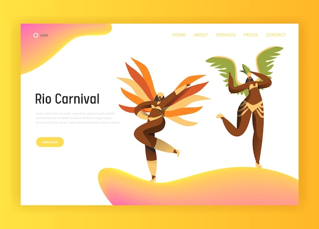 Página inicial da mulher de biquíni latino do carnaval do brasil.