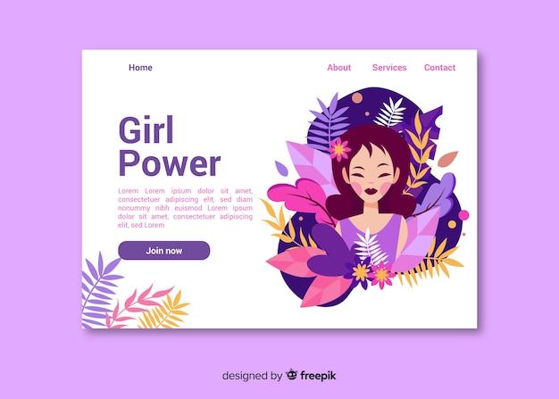 Página inicial da natureza do poder feminino