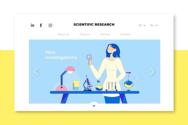 Página inicial da pesquisa científica