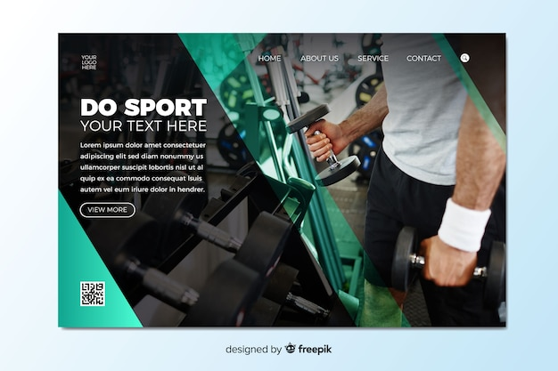 Página inicial da promoção do ginásio com foto