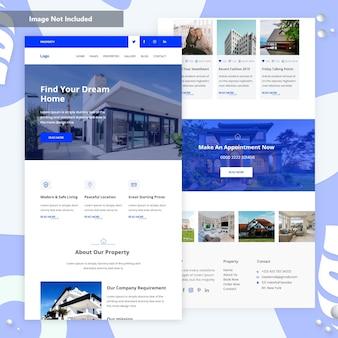 Página inicial da propriedade e apartamento