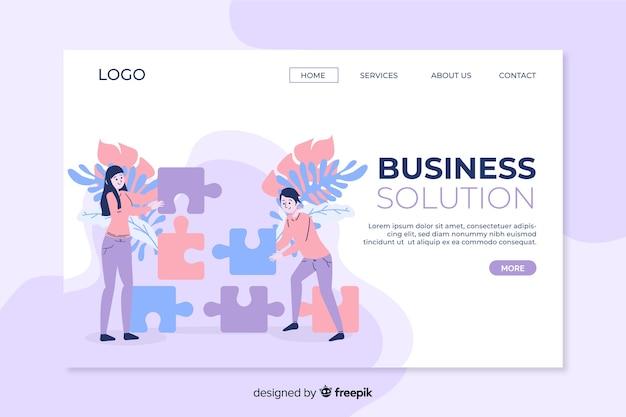 Página inicial da solução de negócios com foto