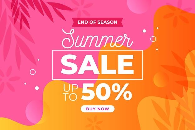 Página inicial da venda de verão no final da temporada