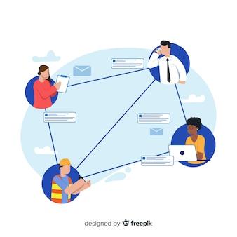Página inicial das equipes de conexão do conceito