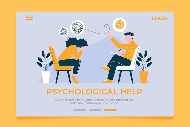Página inicial de ajuda psicológica