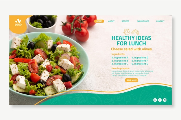 Página inicial de alimentos biológicos e saudáveis