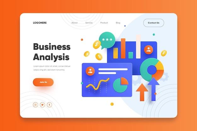 Página inicial de análise de negócios