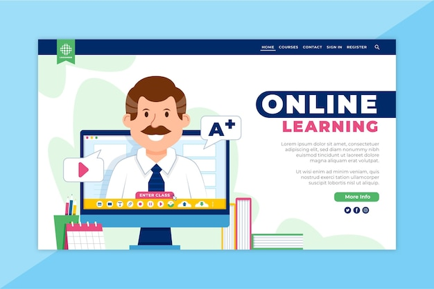 Página inicial de aprendizagem online