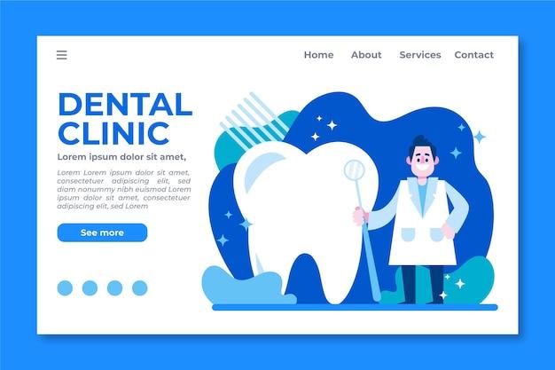 Página inicial de atendimento odontológico dos desenhos animados