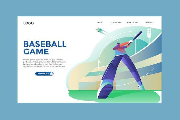 Página inicial de beisebol