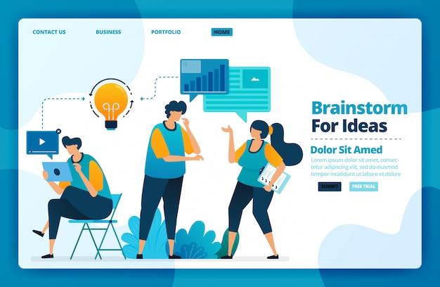 Página inicial de brainstorm para idéias.