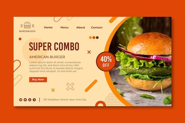 Página inicial de comida americana