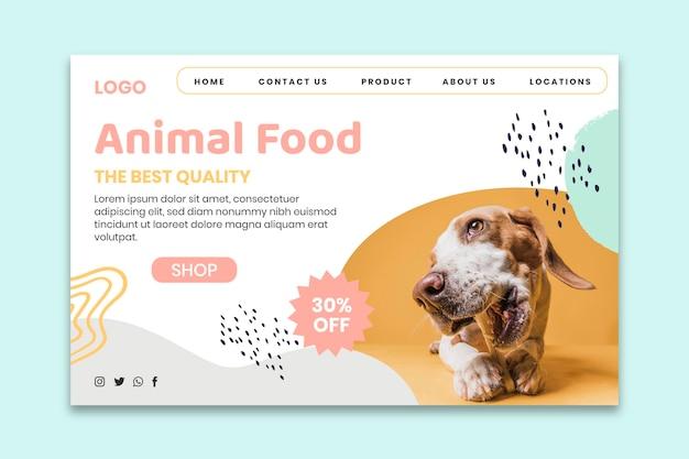 Página inicial de comida animal