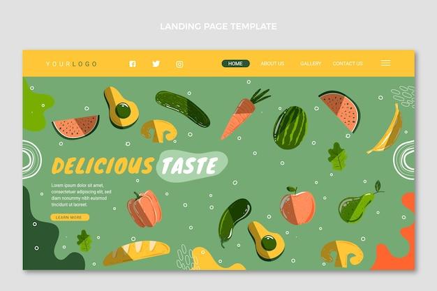 Página inicial de comida desenhada à mão