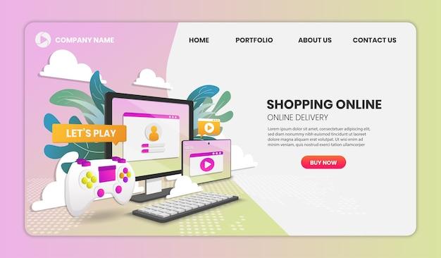 Página inicial de compras online