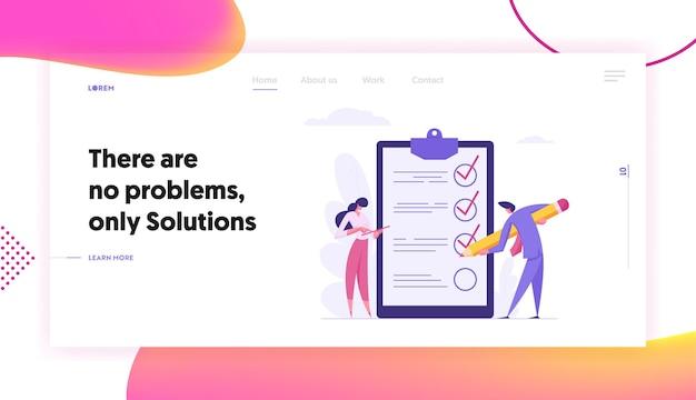 Página inicial de conceito de negócio de gerenciamento de projetos