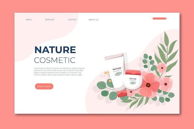 Página inicial de cosméticos da natureza