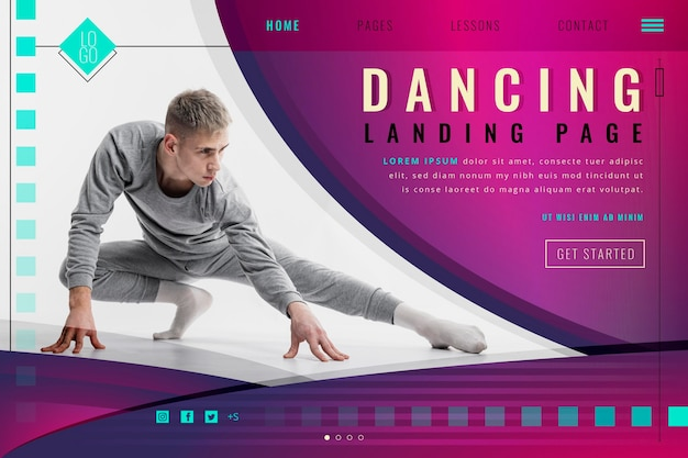 Página inicial de dança