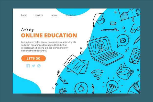 Página inicial de educação online
