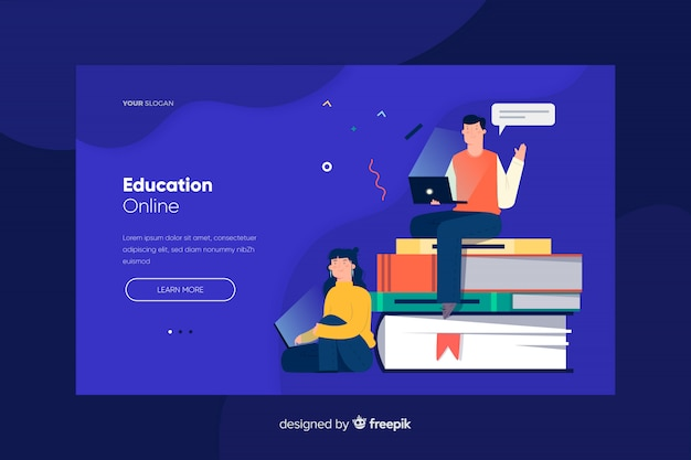 Página inicial de educação