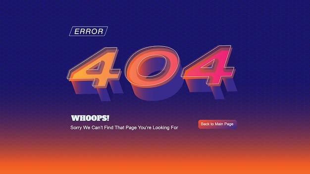 Página inicial de erro 404 em tema futurista com textura hexagonal