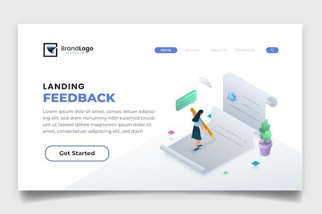 Página inicial de feedback isométrico