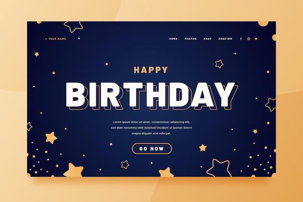 Página inicial de feliz aniversário