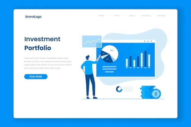 Página inicial de investimento de portfólio