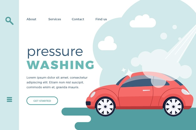 Página inicial de lavagem a pressão