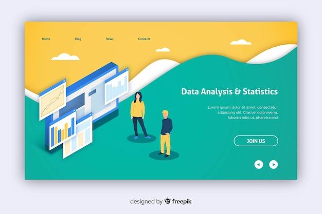 Página inicial de marketing de análise de dados