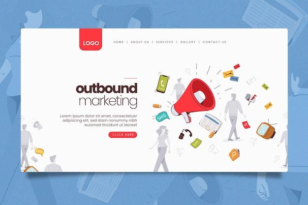 Página inicial de marketing online