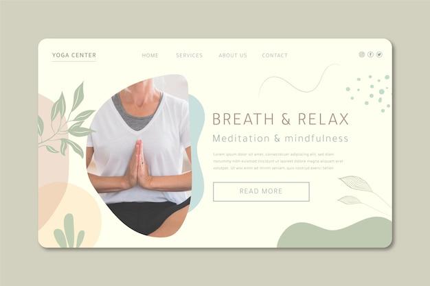 Página inicial de meditação e atenção plena
