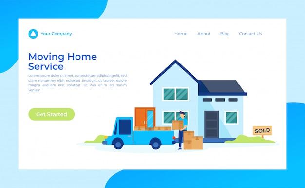 Página inicial de mudança de serviço em casa