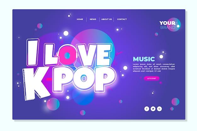Página inicial de música k-pop