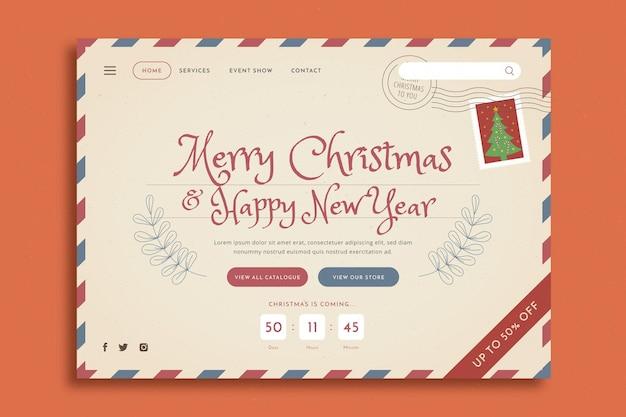 Página inicial de natal vintage