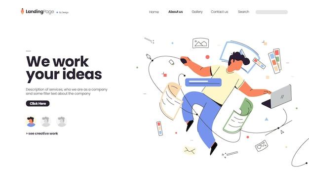 Página inicial de negócios criativos