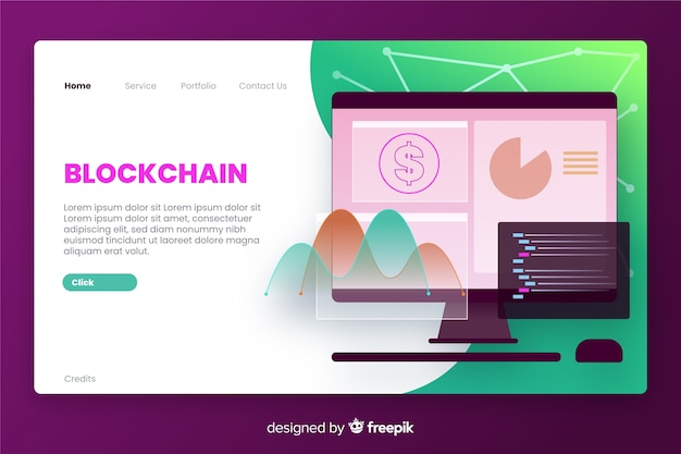 Página inicial de negócios da blockchain