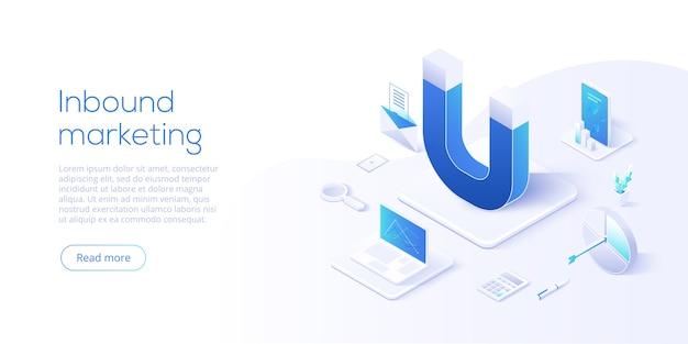 Página inicial de negócios de marketing de entrada