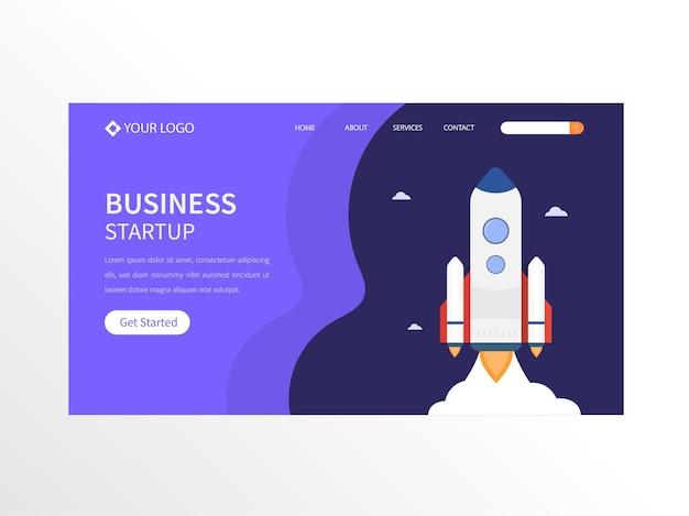 Página inicial de negócios ou banner de herói