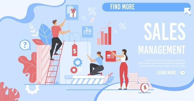Página inicial de negócios para o serviço de gerenciamento de vendas