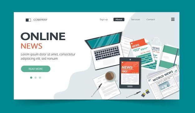 Página inicial de notícias online