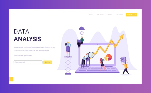 Página inicial de pesquisa de análise de dados comerciais