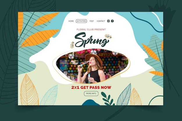 Página inicial de primavera de design plano