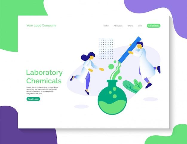 Página inicial de produtos químicos de laboratório