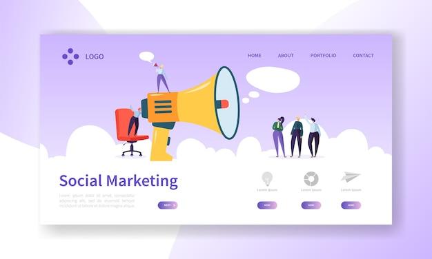 Página inicial de publicidade para design de sites de marketing digital