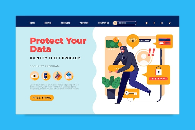 Página inicial de segurança cibernética